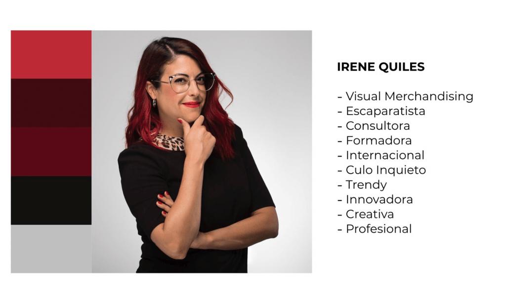 Branding personal ejemplo Irene Quiles