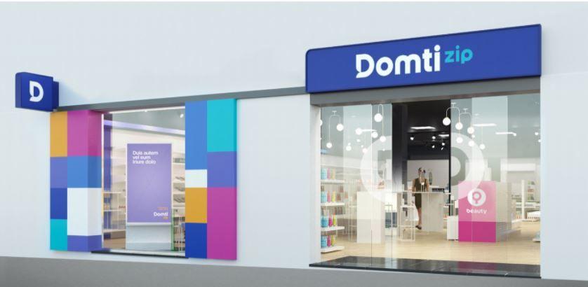 Nuevo concepto tienda DOMTI ZIP fachada en colaboración con Roberto Caprasecca