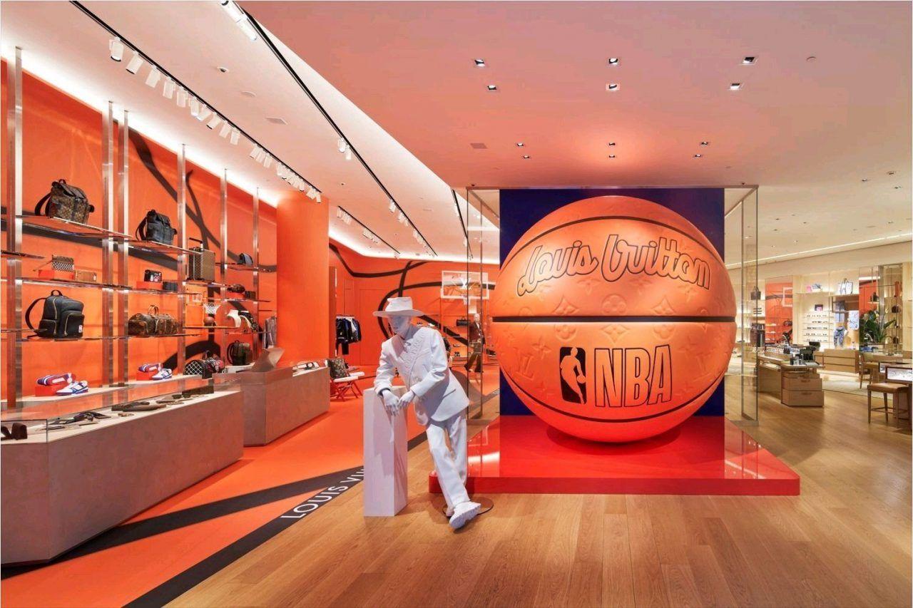 Louis Vuitton Pop Up Store colaboración con NBA